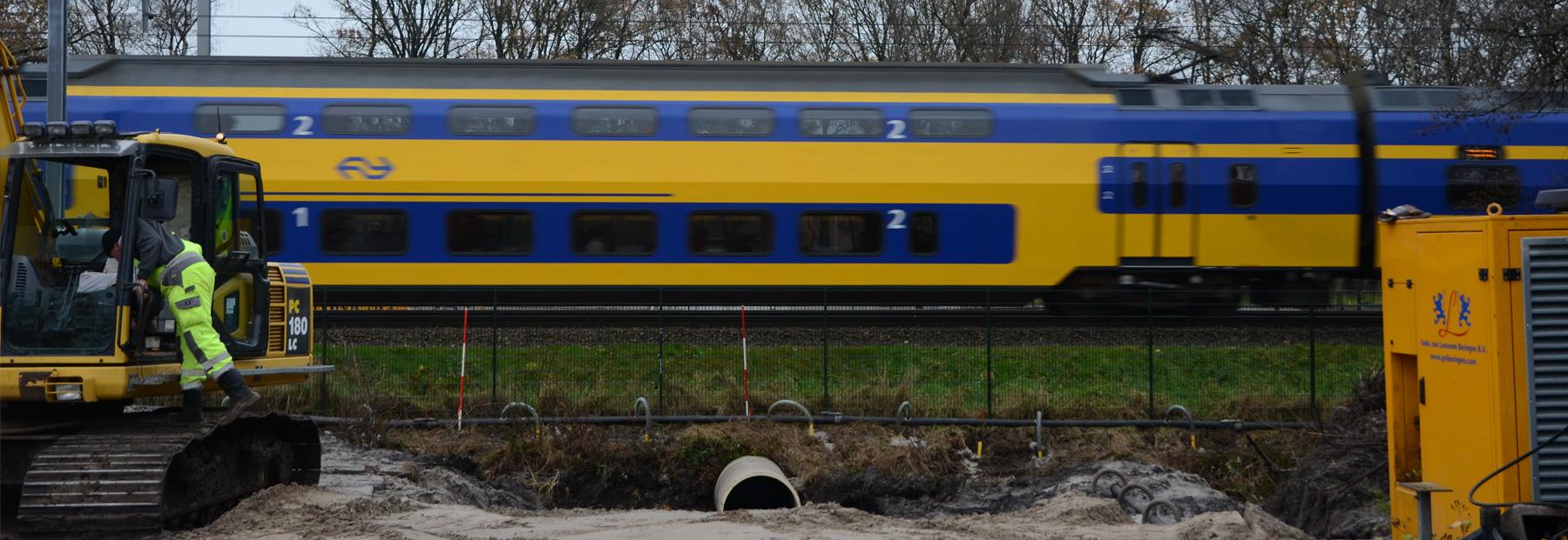 Klarenbeek Trein NS boringen